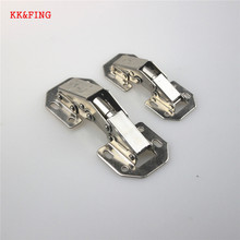 KK&FING 3 Inch 4 Inch No-Drilling Hole Cabinet Hinge 90 Degree Bridge Shaped Spring Full Overlay Cupboard Hinges With Screws stainless steel no drilling hole cabinet hinge bridge shaped hinge buffer cabinet cupboard door hinges furniture hardware