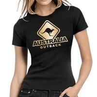 Hot Selling Top New Fashion Woman Tee Shirt Australia Outback Australien Canguro Girlie Shirt T Shirt