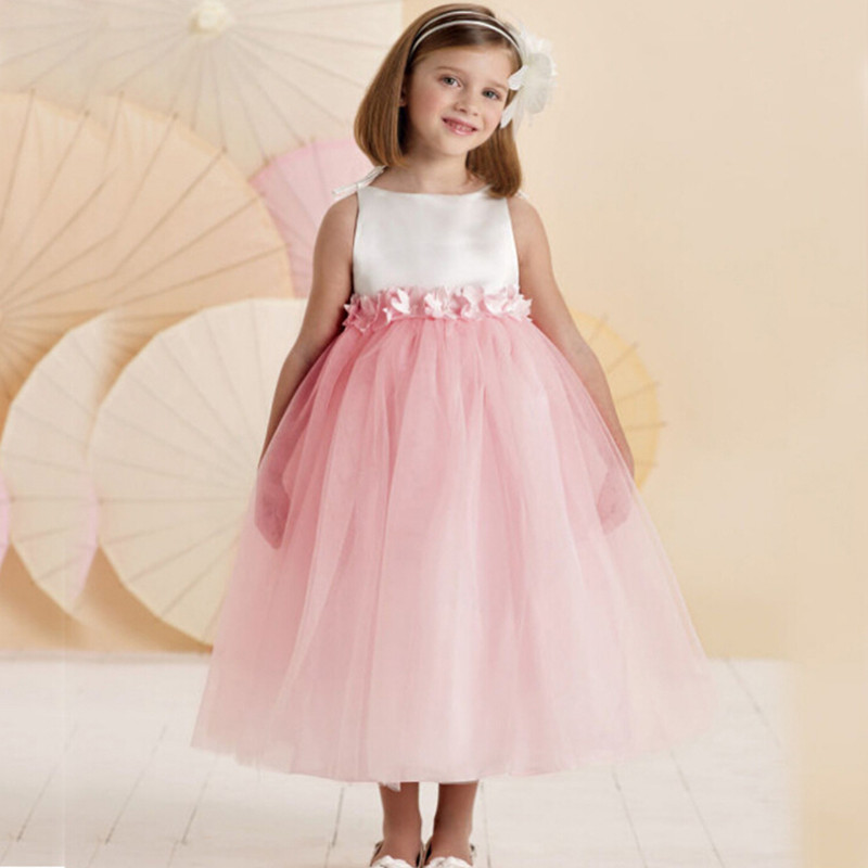 Online Shop 2016 New Arrival Pink Kids Bridesmaid Dresses Baby ...