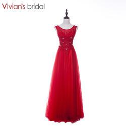 Вивиан Свадебные Элегантные красные длинное вечернее платье новое поступление Вечерние платья Красивые Кружева Аппликации Бесплатная