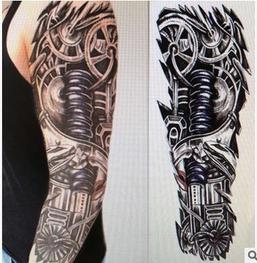 4 Unidslote Completo Tatuaje Flores Brazo Tatuaje Pegatinas De