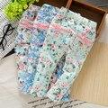 Frete Grátis Real 2017 Primavera Outono Baby Girl Floral Rústico Borboleta Calças de Algodão do bebê Leggings, calças das Crianças