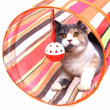 3 Colors Cat Tunnel Animal Play Toy Cat Training Collapsible Bulk Funny Cat Toys Product With Ball 60cm Long High Quality