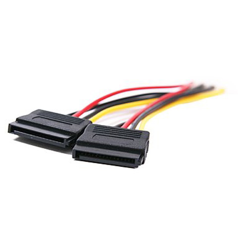 CAA-Hot 2-Port SATA Splitter Power Cable (2 x 15-Pin)