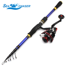 High Quality 1.8M 2.1M 2.4M 2.7M Carbon Spinning rod Telescopic Fishing Rod and Reel Combo Fishing lure Tackle Set