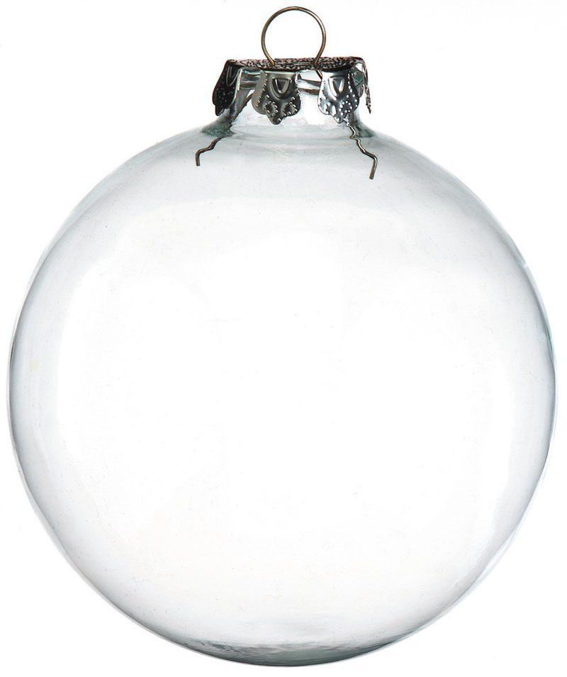free shipping diy paintable clear christmas ornament decoration 100mm glass ball with silver top 48 - Glass Christmas Bulbs For Decorating