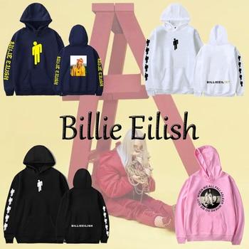 02a0c1fc 2019 хип-хоп модные толстовки с капюшоном с принтом Билли эйлиш, Женская/ Мужская популярная одежда, K-pops толстовка, толстовки, женская одежда
