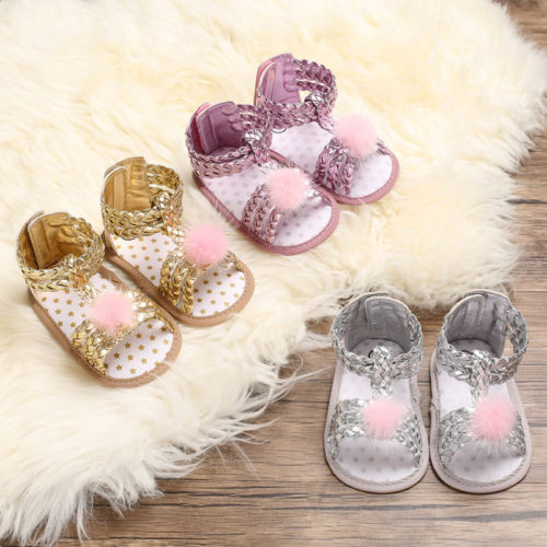 Kids Baby Girl Summer Sandals Shoes Sneaker Anti-slip Soft Sole Toddler Shoes New