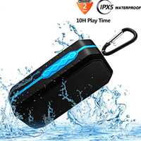Bluetooth Wireless Speakers Waterproof IPX5 HD Enhanced Bass Outdoor Portable With Mic FM AUX TF Card