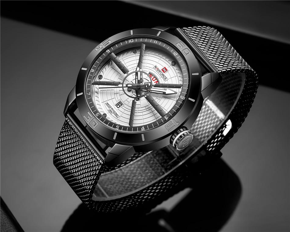 NAVIFORCE Mens Watches Top Brand Luxury Quartz Watch Men Full Steel Men Watch Sport Fashion Business Watches Relogio Masculino 28