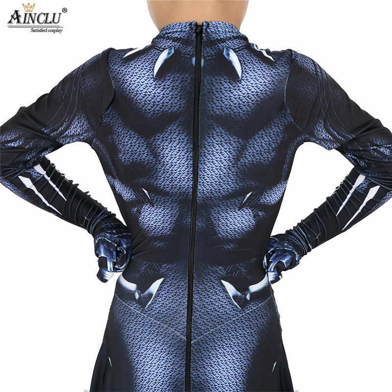 1f2247a113f ... Black Panther Wakanda King Cosplay Costume Jumpsuit Fancy Lycra Spandex  Zentai Mask Customizated Suit Halloween Adults