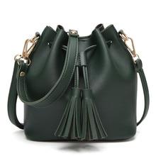 HB @ INS Наивысшее качество сумка в клетку Для женщин модные женские туфли кожаная сумка Crossbody плеча ведро с кистями сумка
