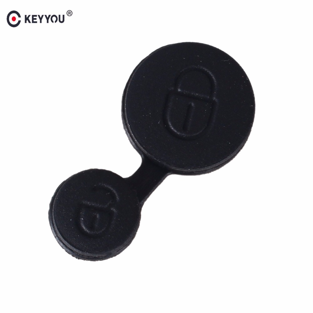 KEYYOU 2X Rubber Buttons Pad 2 Buttons For Citroen Saxo Xsara Picasso Elysee Fob Replacement Car Key Shell Case Cover