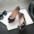 2016 nueva moda sumwer clásico sólido bowtie señalaron-toe bombas mujeres zapatos de tacón alto zapatos cómodos y breathess ss33