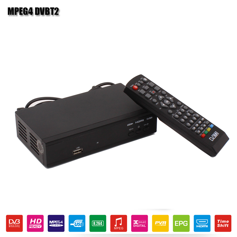 Full HD Digital DVBT2 Terrestrial Receiver MPEG4 H.264 1080P Digital TV BOX