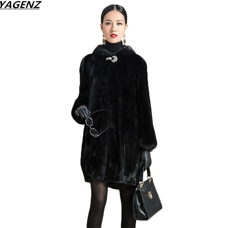 Здесь продается  2017 Fashion Faux Fox Fur Coat Women Winter Jacket Medium Long Luxury Warm Fur Coats Female Hooded Overcoat Plus Size 6XL K647  Одежда и аксессуары