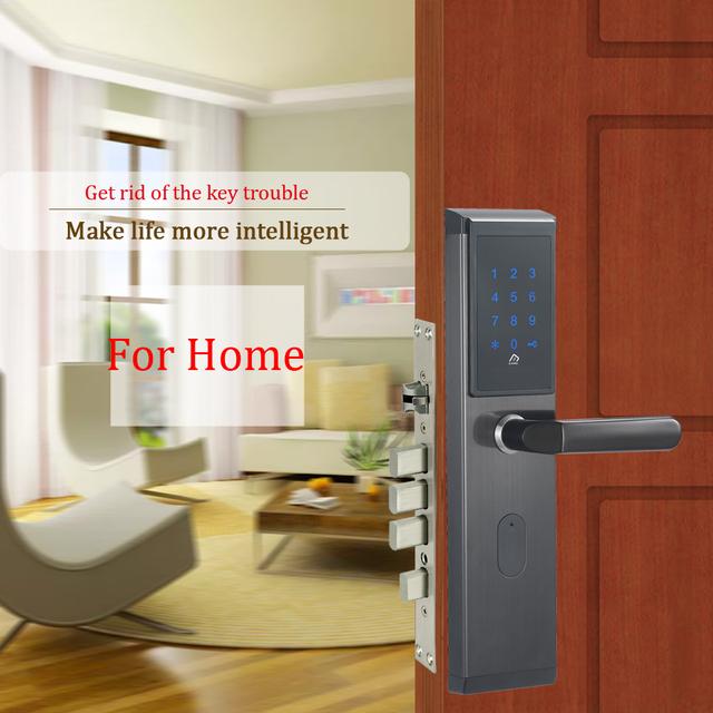 Touch Screen Smart Electronic Combination Password Door Lock Digital Keyless 13.56mhz Key Card Door Lock