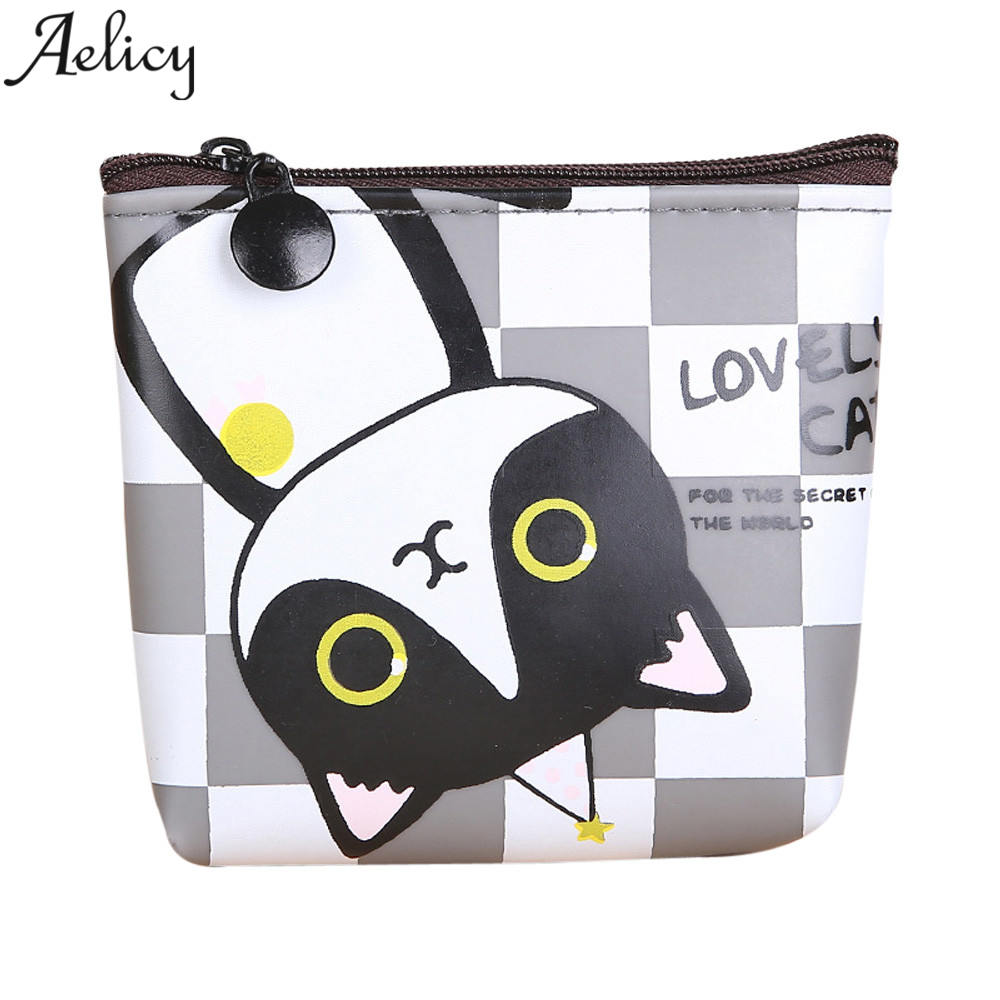 Aelicy Fashion Cute Cat Printed Coin Purse Fashion Snacks Coin Purses Wallet Bag Silicone Zipper Small Change Pouch Key Holder new cute cat face printed zipper coin purses for kids students pencil case cartoon wallet bag coin pouch children purse holder
