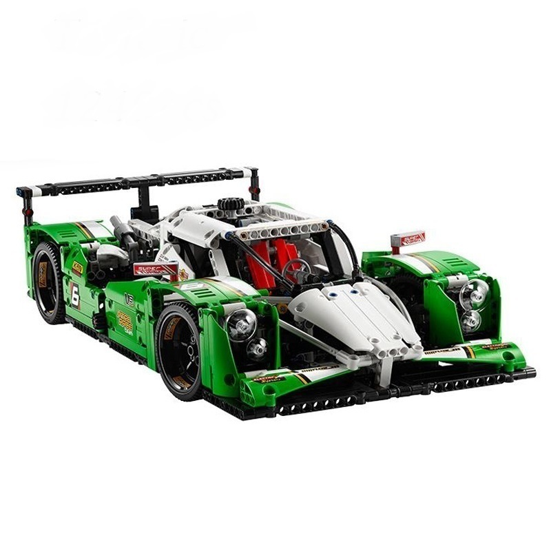 1249PCS LEPIN 20003B With Motor The 24 Hours Race Car Building Blocks Models Toys Compatible Technic 42039 Toys For Boys Gifts 8 in 1 military ship building blocks toys for boys