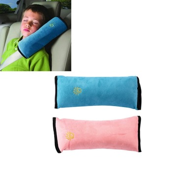 Universal Baby Children Car Safety Seat Belt Pillow Strap Soft Shoulder Pad Headrest Auto Car Cushion Body Head Brace Support image