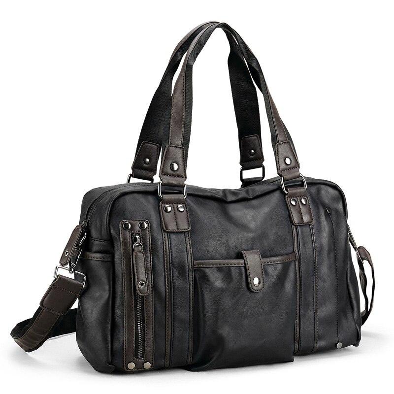 Rukavice Fashion Crossbody tašky Pánské Trend kufřík Casual Leisure Soft PU kůže Rameno Business Travel kabelky