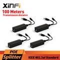 Xinfi 4 шт. POE адаптер инжектор разветвитель разъема IEEE802.3af активность 10 / 100 Мбит для VoIP AP 12 В / 1A выход