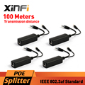Xinfi 4pcs POE Adapter Injector Splitter Connector IEEE802.3af Active 10/100Mbps For IP Cameras VoIP Phone AP 12V/1A Output