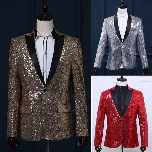 paillette male master Sequins Dresses Stage Costumes Men terno Suit MC Host  Clothing Singer Suits   Blazer show jacket outerwear d08b40b1d219