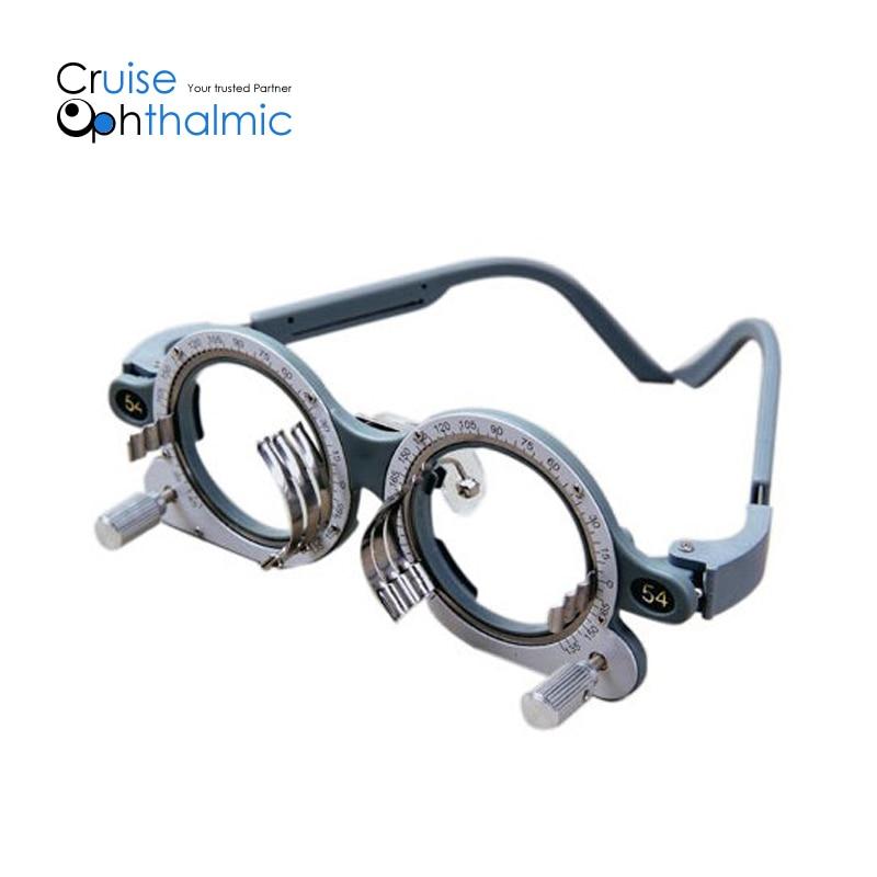 Optometría Óptica Marco de prueba totalmente ajustable Marco de lente óptica de prueba, marcos de prueba TF5068BS