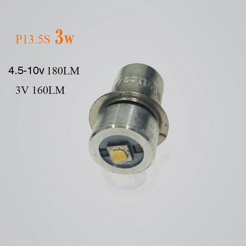 1/2 stück P13.5S CREE XPG2 3 Watt taschenlampe notfall glühbirnen 3 v dc4-10 v / 6-24 v Led Birne ersatz taschenlampe