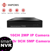 IMPORX NVR CCTV IP Camera Security System Surveillance Video Recorder Support P2P Onvif. 1U 1HDD 16CH 2MP OR 9CH 5MP NVR