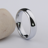 Wholesale New Fashion Jewelry Classic Design Tungsten Steel Couples Silver Rings Classic Personality Ring For Men