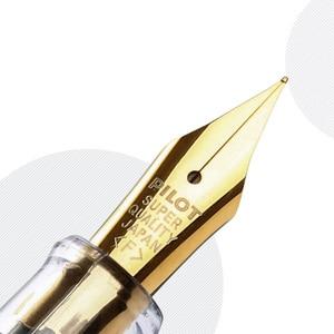 Image 4 - Pilot 78G Fountain Pens 22k Golden Original Iridium Fountain Pen With Converter for Writing Calligraphy EF F M B Nib Small Gift