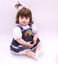 50 cm Lindo Sorriso da Cara Bebe Renascer Boneca Lifelike Renascer Baby Dolls Silicone Macio Brinquedos Para O Presente Das Meninas Da Forma Do Bebê bonecas