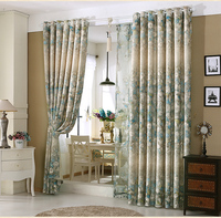 American Chinese Rural Custom Shading Cloth Curtains For Dining Living Room Bedroom Windows Draperies 1pc Curtain