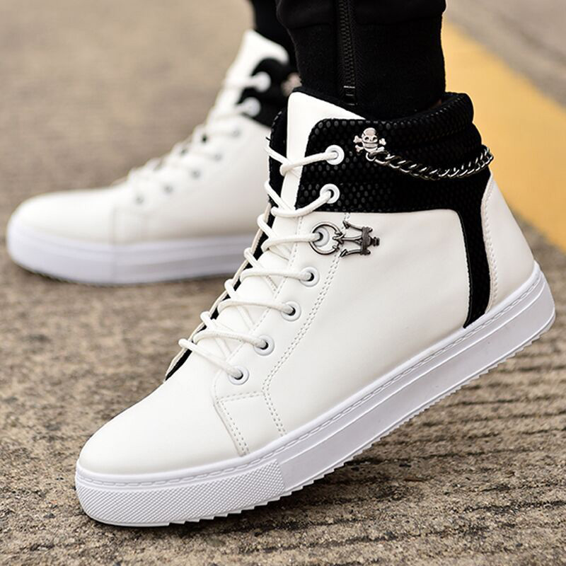 New Casual Shoes Men Shoes Autumn Fashion Men Casual Shoes Male Sneakers Adult Non-Slip Comfortable Men'S High Top Sneaker
