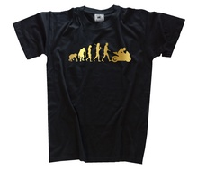 edition GOLD Moto I Motard Evolution T-Shirt S-XXXL Harajuku Tops t shirt Fashion Classic Unique free shipping цена