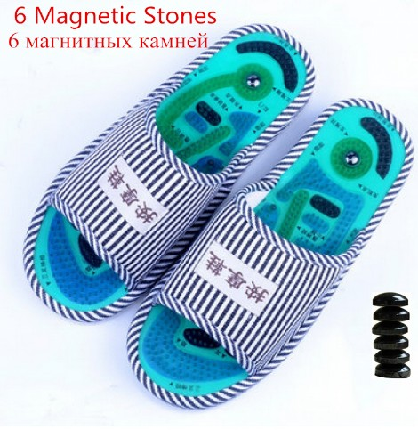 foot Massage Slippers Health K5 Shoe Reflexology Magnetic Sandals Acupuncture Healthy Feet Care Massager Magnet Shoes Healthy coolsa essential health care taichi acupuncture massage slippers high quality men s foot massage slippers with magnet home shoes