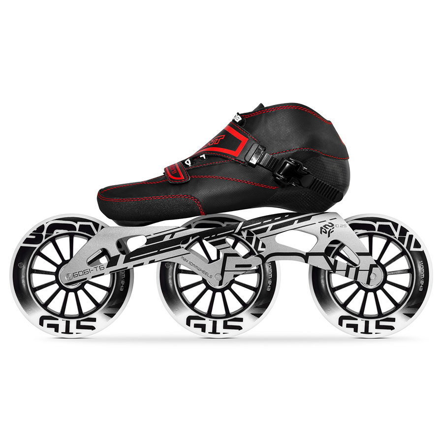 100% Original Bont Enduro Speed Inline Skates Size 29 40 Heatmoldable Carbon Fiber Boot Frame 3*110mm G15 Wheels Racing Patines