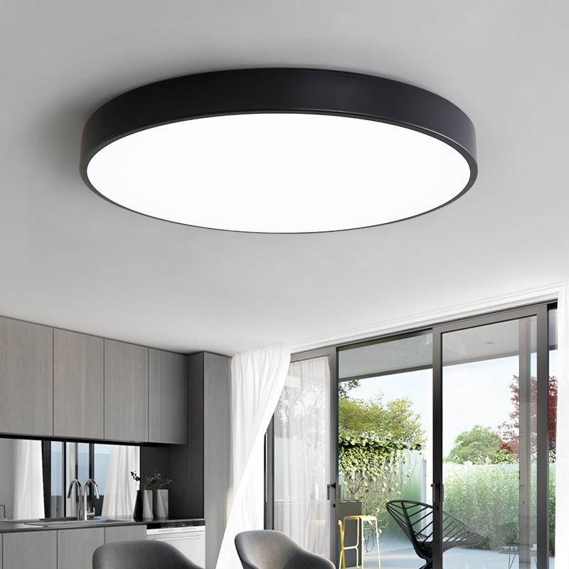 Ltra-thin LED Ceiling Lamp Living Room Lighting Remote Control Simple Modern Bedroom Lamp Restaurant Home Balcony Lighting