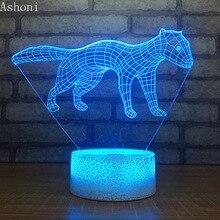 3D Leopar Shape Table Lamp LED Touch 7 Color Changing Night Light Party Decorative Home Decor Kids Christmas Gift