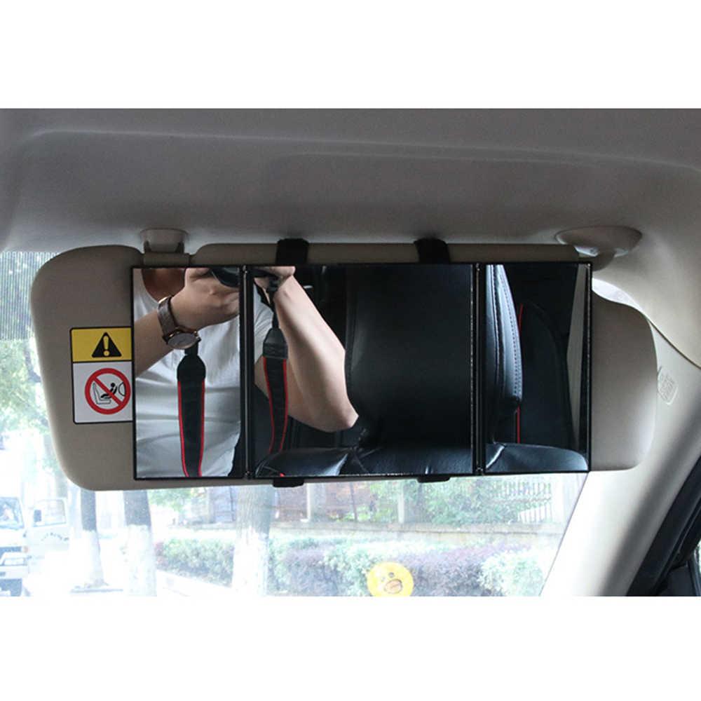 Ô tô Visor Gương Trang Điểm Du Lịch VANITY MIRROR Đựng Mỹ Phẩm Trị Gấp Tự Động Gương Ô Tô Tạo Kiểu