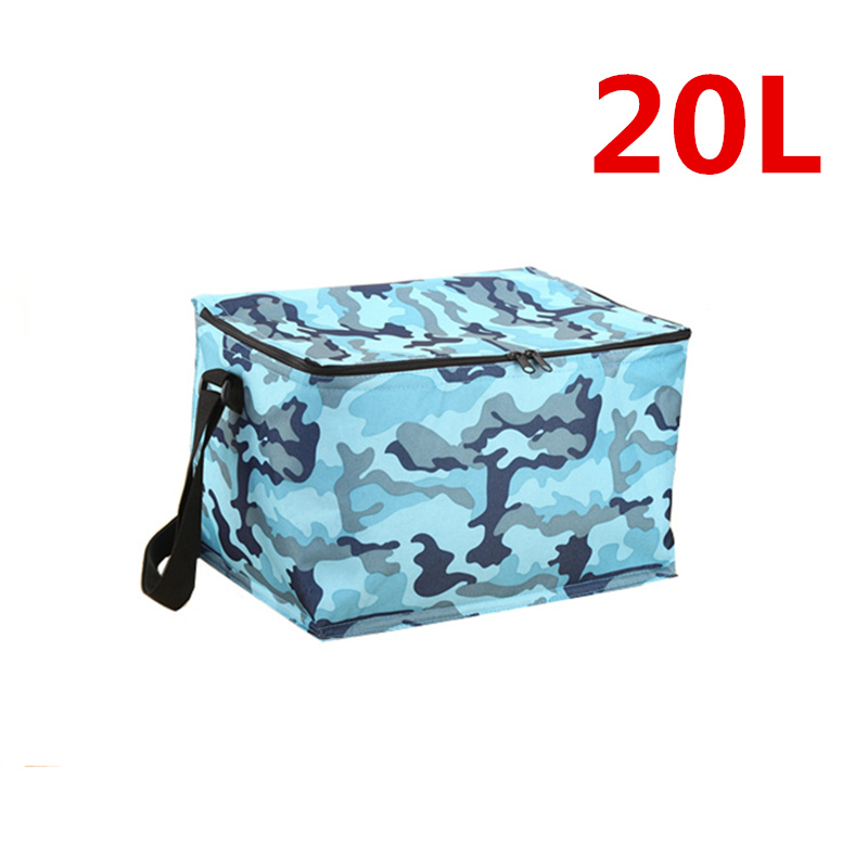 купить Laumango 20L Solid Thermal Insulated Cooler Bag Extra Large Picnic Lunch Bag Box Trips BBQ Ice Pack Accessories Supplies Product онлайн