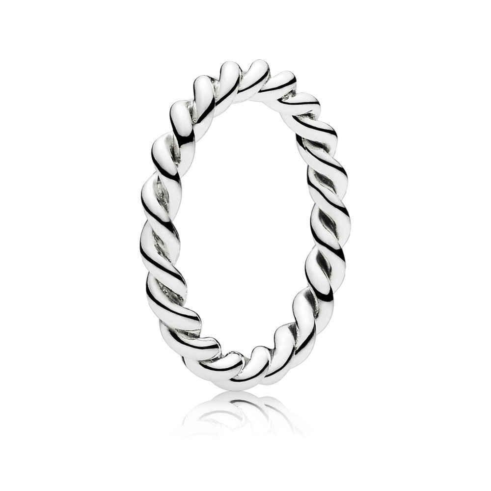 SHINETUNG 1:1 S925 Стерлинговое Серебро переплетенное твист стекируемое кольцо женские модные роскошные ювелирные изделия