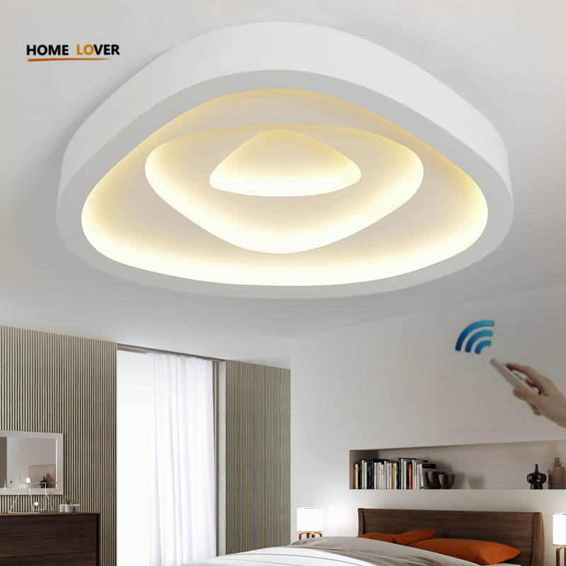 Modern ceiling lights for living room lamp Bedroom lamparas de techo colgante moderna with Remote controller ceiling lamp noosion modern led ceiling lamp for bedroom room black and white color with crystal plafon techo iluminacion lustre de plafond