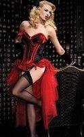 drop shipping hot selling new sexy long burlesque skirt corset costume Burlesque Corset & tutu /skirt Fancy dress outfit