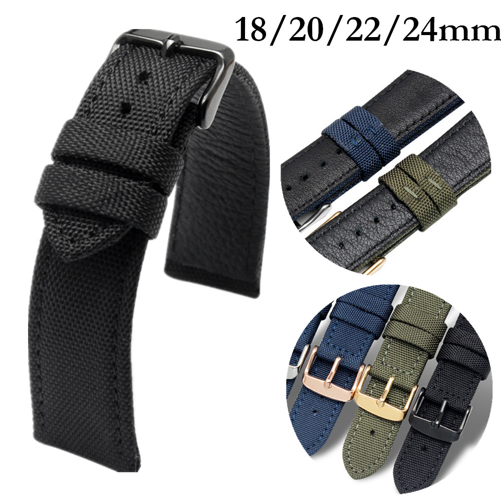 Nylon Leather Watchband Strap For Omega For Rolexwatch Breitling Sport Watchstrap Colorful Bracelet Man 18MM 20MM 22MM 24MM Tool