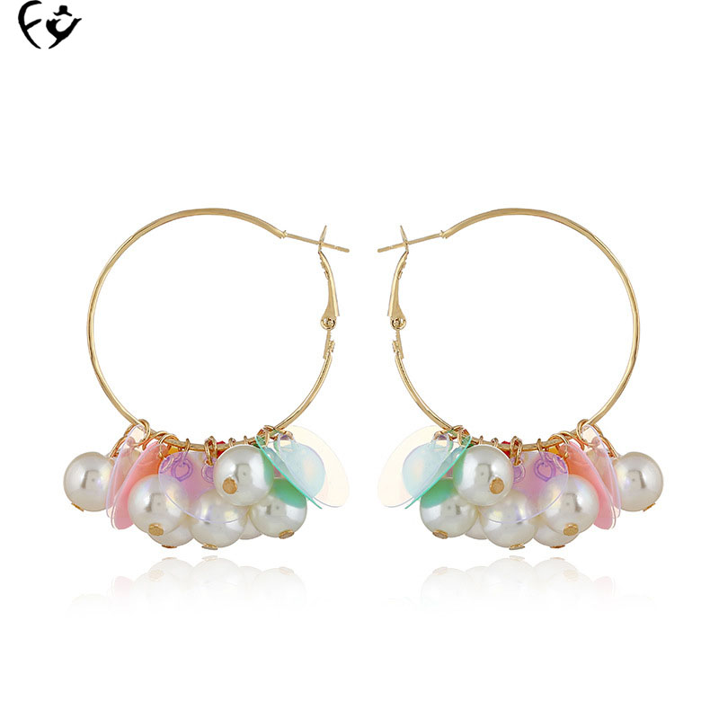 European and American fashion exaggerated acrylic Ring Earrings new european and american fashion steampunk hourglass gear alloy drop earrings