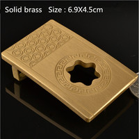 Retail New Style High Quality Solid Brass Cool Cowboy Belt Buckle Suitable 4cm Wide Belt For