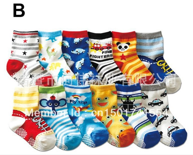 AW111  free shpping New arrival hot-selling 100% cotton children socks slip-resistant small kid's socks baby floor socks